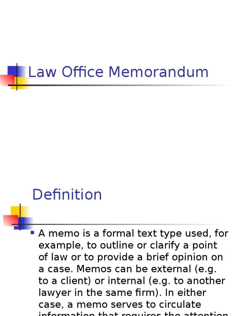 an informative memo injunction memorandum