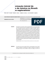 Pibid e a Formação Inicial de Professores de Música No Brasil