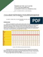 Trabajo sobre tasa de encarcelamiento en España.