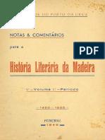 História Literária Da Madeira