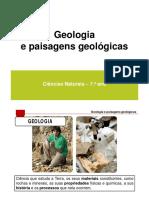 1. Geologia e Paisagens Geológicas