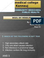 MCQ ON MEASLES