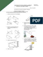 Taller Aplicaciones de Razones Trigonometricas