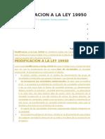 Modificacion a La Ley 19950