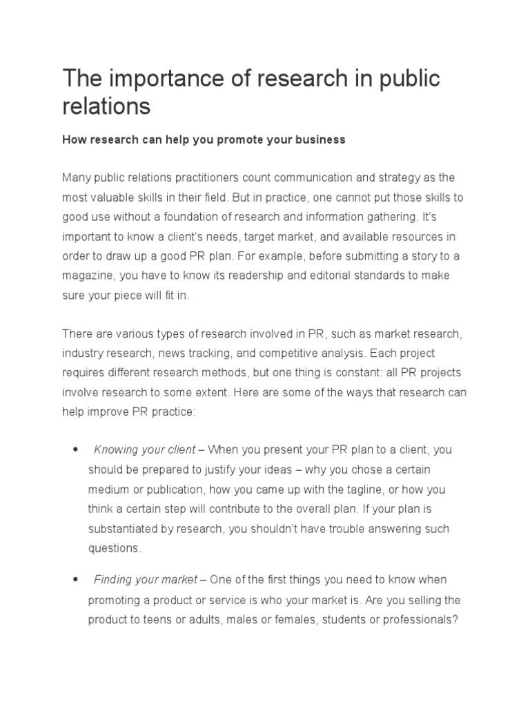 public relations planning process