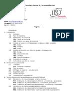 Programa Estadística I