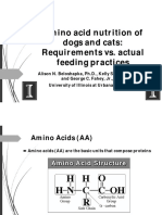 Amino Acid Nutrition of Dogs and Cats