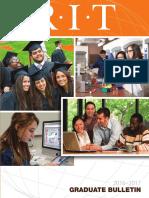 Graduate Bulletin