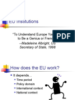 EU and Its Institutions Powerpoint 2