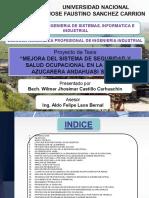 Mejora Del Sistema de Seguridad y Salud Ocupacional de La Empresa Azucarera Andahuasi s.a.a.