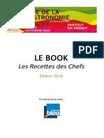 Les recettes des Chefs - Fête de la Gastronomie 2016