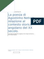 La poesia di Agostinho Neto in relazione al contesto storico angolano del XX secolo.