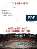 Analysis and Designing of an Indoor Stadium