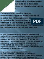 Resumen de La Cultura Musical Nicaraguense