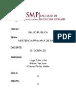 ATENCIÓN PRIMARIA DE SALUD(APS)
