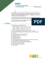 TDA8953 datasheet