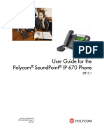 SoundPoint IP 670 User Guide SIP 3 1