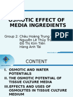 Osmotic Effects on Tissue Culture