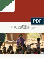 WORLD BANK – UNICEF MADAGASCAR, 2014 Public expenditure review