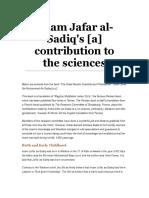Imam Jafar al-Sadiq's contribution to the sciences.doc