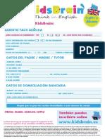 Ficha Inscripción Kidsbrain