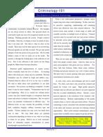 Criminology Newsletter May2010