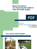 Residential Lawn Care  from Storm Water