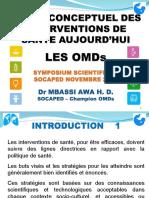 1 Cadre conceptuel des intervention de santé OMDs Nov2010.ppt