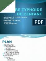 Fievre Typhoïde de l'Enfant