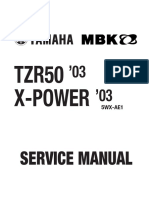 Yamaha TZR 50 03 Owners's Manual