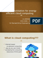 VM Consolidation for energy efficient cloud computing.pptx