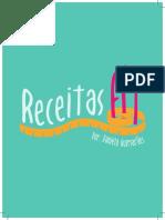 Receitinhas Fit - Por Daniela Guimarães - Formato A5 - 28 Pags