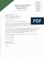 Congressman Bill Grant replies to Gary Bennett