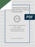 Actas de las VII Jornadas Nacionales de Filosofía Antigua - 2014