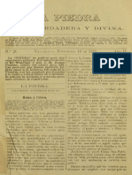 """Periódico """"La Piedra viva, verdadera y divina"""". 16-11-1871."""