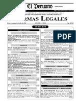Decreto Supremo N° 038-2003-MTC Límites Máximos Permisibles para Radiación No Ionizante en Telecomunicaciones