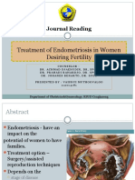 Treatment of Endometriosis in Women Desiring Fertility