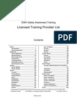 Training Provider List_161214 Ver2   Shropshire