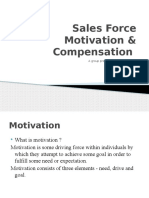 sales force motivation and compensation