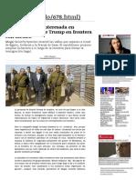 Empresa Israelí Interesada en Construir Muro de Trump en Frontera Con México _ Mundo _ LA TERCERA