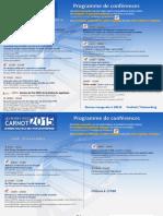 RdvCarnot Programme Conferences