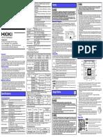 Manual Hioki 3454-11