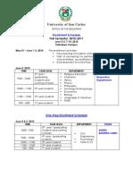 Enrollment Schedule (TALAMBAN CAMPUS)