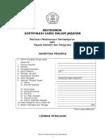 INSTRUMEN PENILAIAN PELAKSANAAN PBM FINAL.doc