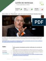 Boletín de noticias KLR 13SEP2016