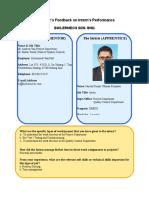 Employer's Feedback on Intern's Performance.doc