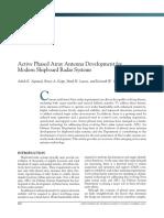 Active Phased Array Antenna Development for Modern Shipboard Radar Systems