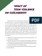 Impact of t.v Violence on Children