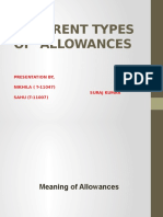 types of Allowances