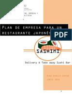 Plan de Empresa Para El Restaurante Japonés